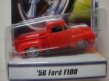 1956 FORD F100 PICK UP CUSTOM CLASSIC  HOT WHEELS MINT CARD 1/50 SCALE