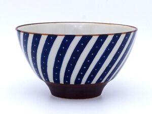 Pro Japanese Rice Bowl TOMITALIA  MILMIL Series Sparkles on Stripes Japan made