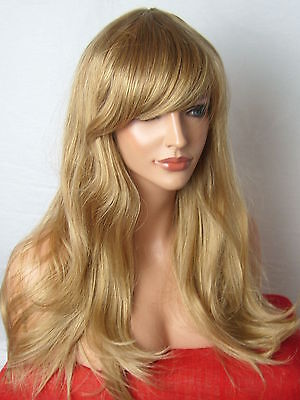 Blonde Womens Fashion Party Long Wavy Curly Full sexy cosplay Ladies Wig C8