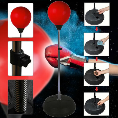 Kids Adults Free Standing Punch ball Bag Gloves Set Boxing Sports Christmas Gift