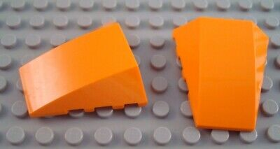 LEGO Lot of 2 Reddish Brown 4x4 Triple Curved Cockpit Wedge Pieces