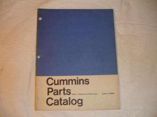 Cummins Engine PARTS CATALOG Manual V903M VT903M Marine OEM List Book Boat