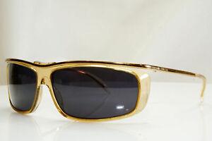 Authentic GUCCI Mens Boxed Vintage Sunglasses Gold Square GG 1420 439 27537