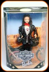 Harley-Davidson-Motorcycle-Barbie-3-Brunette-Collector-Doll-1999-NRFB