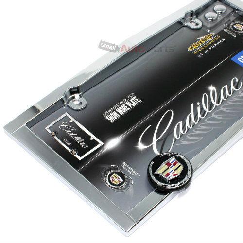 2 Screw Bolt Caps Cadillac Chrome License Plate Tag Frame for Auto-Car-Truck