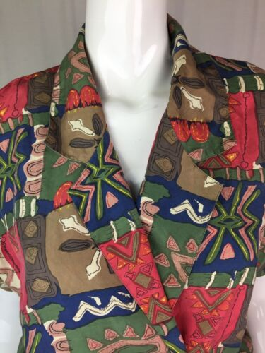 Tribal Vintage Romper Women's Silk Belted Hattie Draped Small 1950's Carnegie gaqaTZwH
