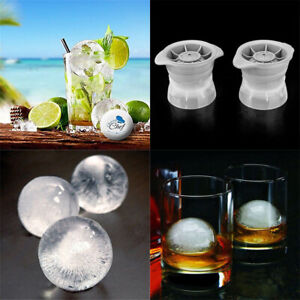 Ice-Ball-Cube-Maker-Sphere-Moule-2-5-in-environ-6-35-cm-rond-gelee-moule-SET-COCKTAIL-WHISKY