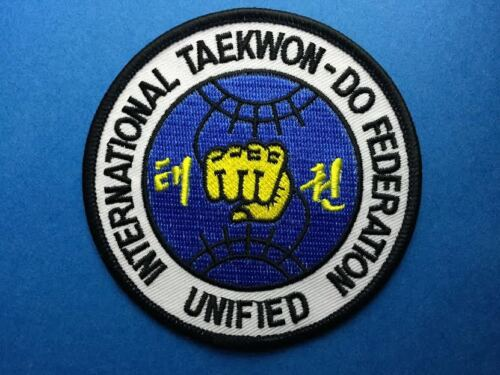 International Taekwon Do Federation Unified TKD MMA Uniform Gi Patch Crest 551