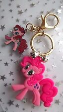 KEYRING GOLD CLIP  MY LITTLE PONY PINKY PIE BELLS  ANY AGE ,COMES GIFT BOXED