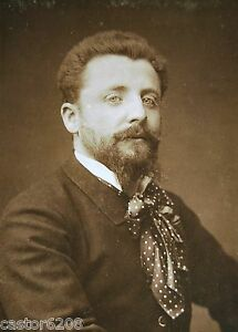 PHOTO ANCIENNE SALON 1883 PEINTRE Henri CAIN 13-5x9-6 ewM4Ot5f-07183136-336208023