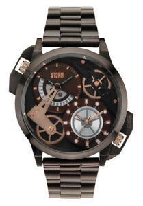 STORM-London-DualON-Brown-Men-039-s-Watch-47135-br-Analogue-More-Time-Zones