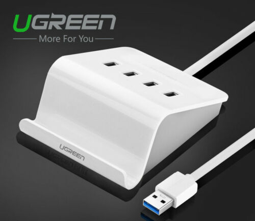 Ugreen High Speed 4 Ports USB 3.0 HUB with EU Plug Power Adapter for PC Laptop