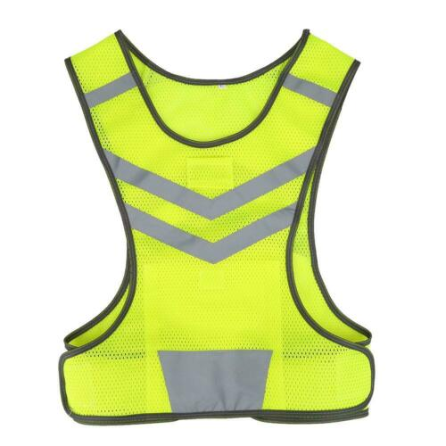 Adjustable Safety Security Visibility Reflective Vest Jacket Night Running JA
