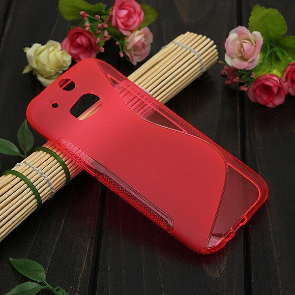 HOUSSE ETUI COQUE SILICONE GEL ROSE  HTC ONE M8