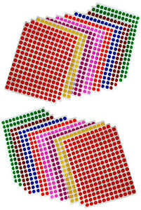 Dot-Stickers-1-4-Inch-8mm-Circular-Small-Round-Color-Coding-Labels-900-Pack
