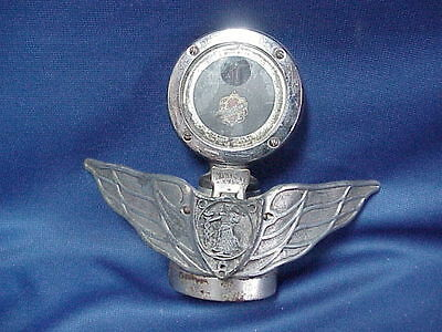 "Peerless Wing Boyce Senior Motometer 3-3//8/"" /& Dogbone Radiator Cap Chrome"