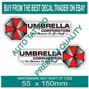 UMBRELLA-CORPORATION-DECAL-STICKER-X2-STICKERS-ZOMBIE-REANIMATED-LIVING-DEAD