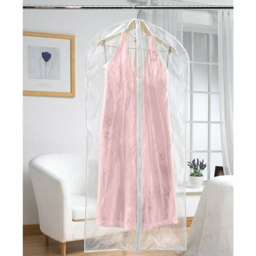 expensive clothes Personalise Extra Long Dress Cover Clear perfect for Wedding