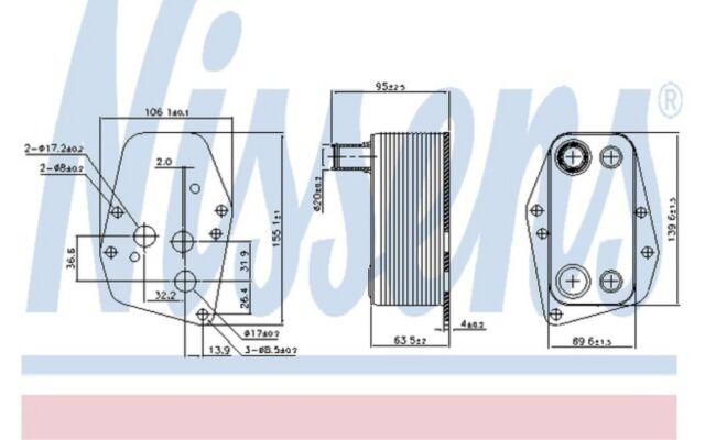 NISSENS Radiador de aceite motor 90904