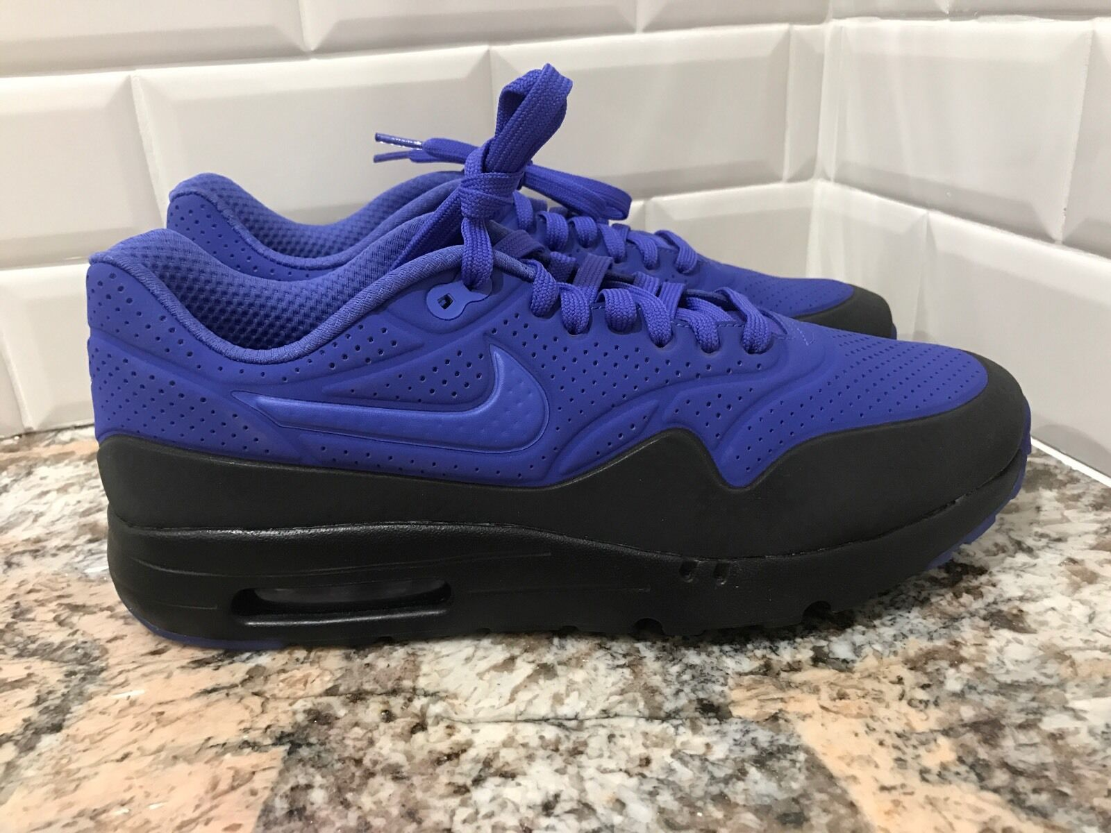 Nike Air Max 1 One Ultra Moire SZ 11 Persian Violet Black Purple 705297-500