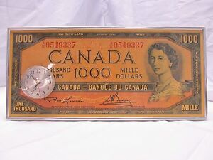 Image Is Loading Huge Canadian 1000 Dollar Clock Works