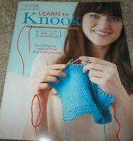 Leisure Arts Learn To Knook Knit With A Crochet Hook Instruction Book