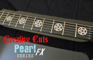 pentagram mop black pearl fret markers inlay sticker decal for