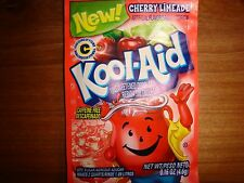 30 RARE Kool Aid Drink Mix CHERRY LIMEADE Vitamin C popsicle taste flavor party