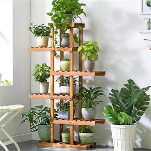 Reinforced-52-034-Tall-6-Tier-Wood-Plant-Stand-Corner-Shelf-Flower-Rack-Garden-Home