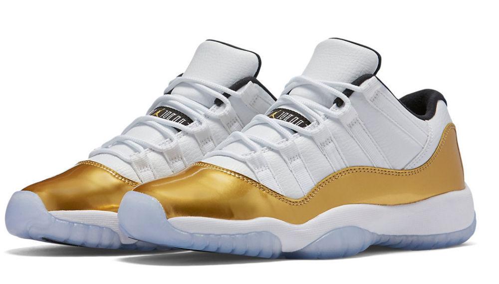 NEW NIKE AIR JORDAN 11 LOW RETRO XI CLOSING CEREMONY GOLD WHITE size 8.5 xxxi