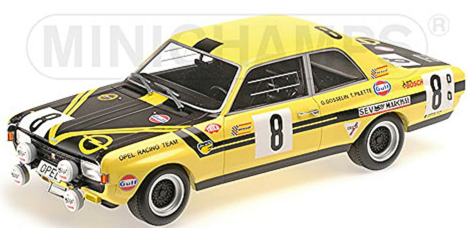 Opel Commodore a cantero 24h spa 1970  8 Pilette Gosselin 1 18 Minichamp