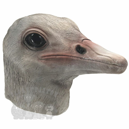 Latex Animal Mask Ostrich Bird Head Cosplay Fancy Dress Novelty Masquerade Party