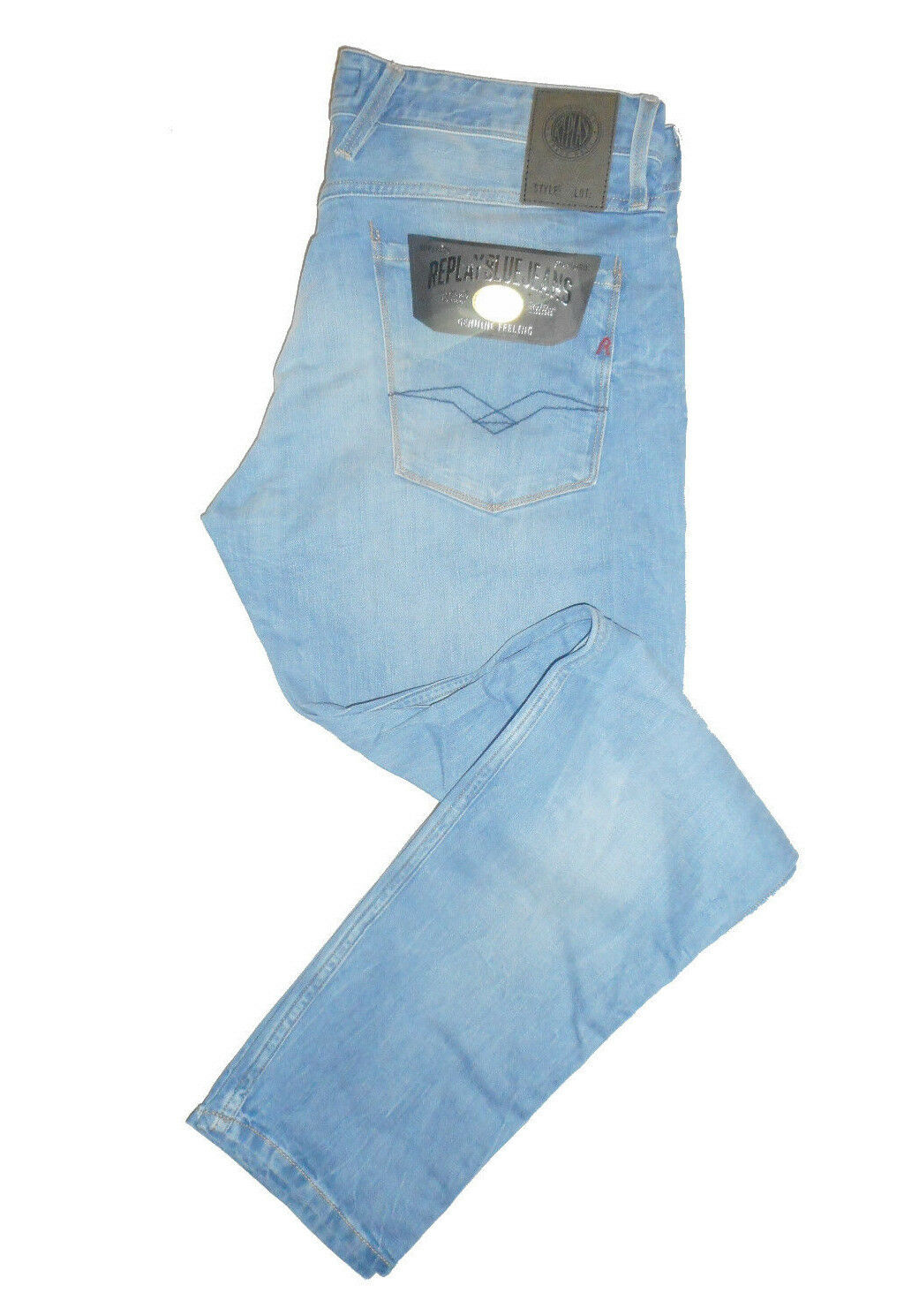 Replay ANBASS Slim Fit  W32 L32  RRP   Mens bluee Denim Jeans