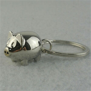Alloy-Mini-Pig-Keyring-Charm-Pendant-Keychain-Key-Ring-Chain-Chrismas-Gift-Pz