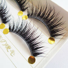 5 Pares Natural Pestañas Postizas hecho a mano Maquillaje Eyelashes Chica