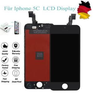 Display-Fuer-iPhone-5C-mit-Ersatz-LCD-Glas-Bildschirm-Komple-Front-Schwarz