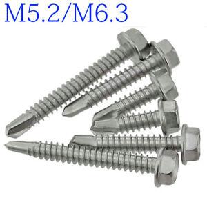 Hex Washer Head Screw 410 Stainless Self Tapping TEK Screws M4.2 M4.8 M5.2 M6.3