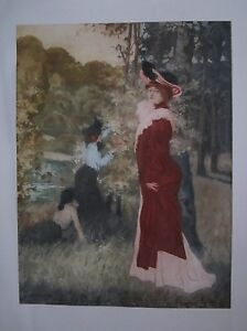 Original-Manuel-Robbe-Signed-Color-Etching-034-April-034