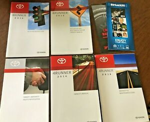 2016 Toyota 4Runner Owners Manual set w// Navigation book /& warranty guide Case
