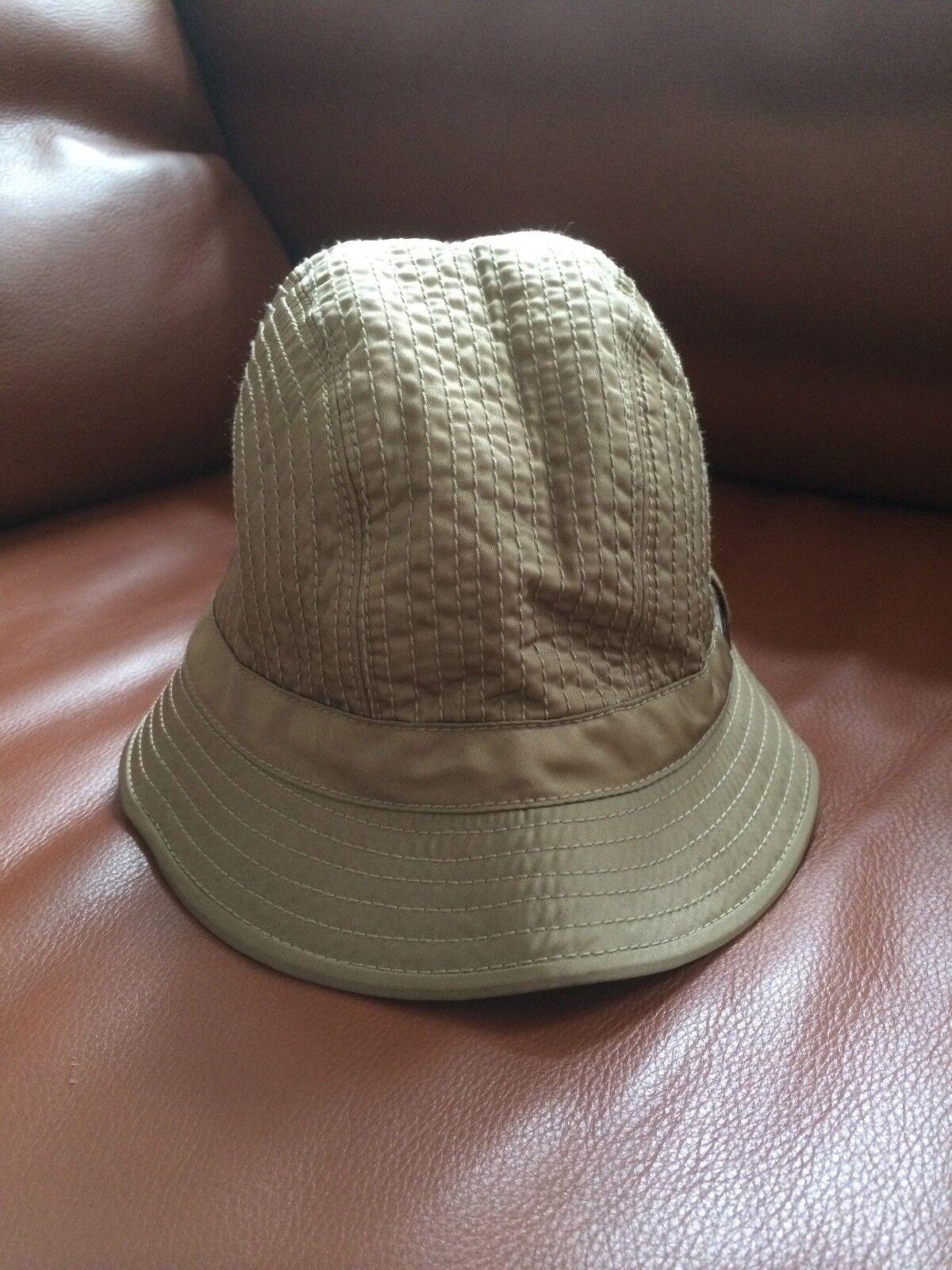 PRADA NYLON KAPPE BEIGE S HUT HAUBE MÜTZE CAP CAP CAP Gold OLIV BEIGE STEPP Gold | König der Quantität  | Creative  | Up-to-date-styling  903a13