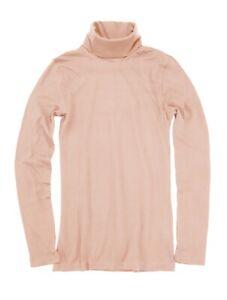 J-Crew-Factory-Women-039-s-XS-NWT-Deep-Blush-Taupe-Pink-Tissue-Turtleneck-Tee