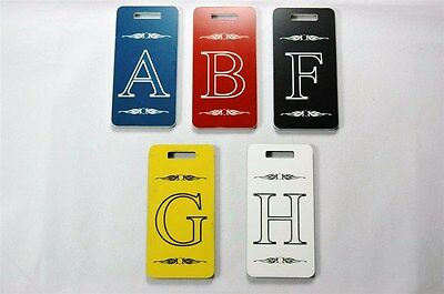 Oversized Engraved Luggage pack Laptop two sided Tags with Monogram Five Colors