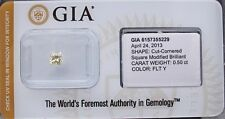 GIA Cert 0.50ct RADIANT cut diamond NATURAL FANCY LIGHT YELLOW  SEALED.