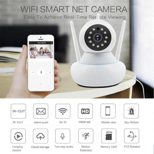 Wireless Smart IP Camera HD 1080P WIFI Security IR Night Home Security Webcam