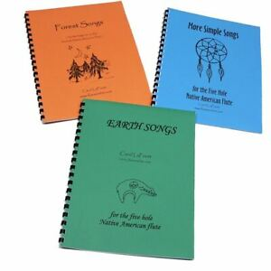 Songbook SET for the 5 hole Native American Flute, 3 Song Books
