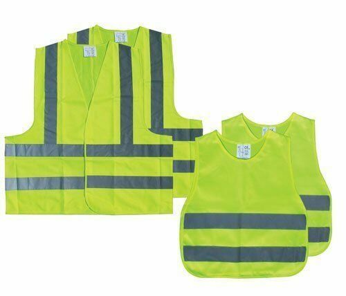 AA Family High Visibility Vest Jacket Pack 2 Adults 2 Children Breakdown Safety