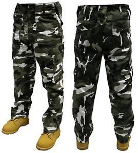 Para Hombres Ejercito Cargo Pantalones De Combate Urbano Militar Pantalones De Camuflaje Casual Uk 30 44 Ebay