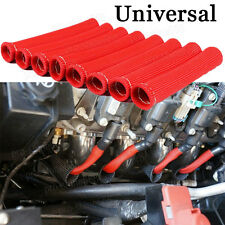 8x SPARK PLUG WIRE BOOT HIGH HEAT PROTECTOR SLEEVE COVER/SHIELD RED For Volvo