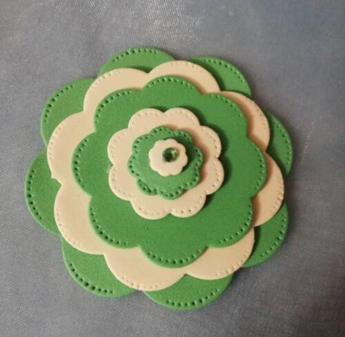 Brand New 7 Piece Stitched Nesting Flower Framlit Die Cutter Uk Seller