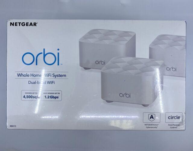 NETGEAR Orbi RBK13-100NAS Dual Band Whole House WiFi Covers 4500 Sq. Ft.